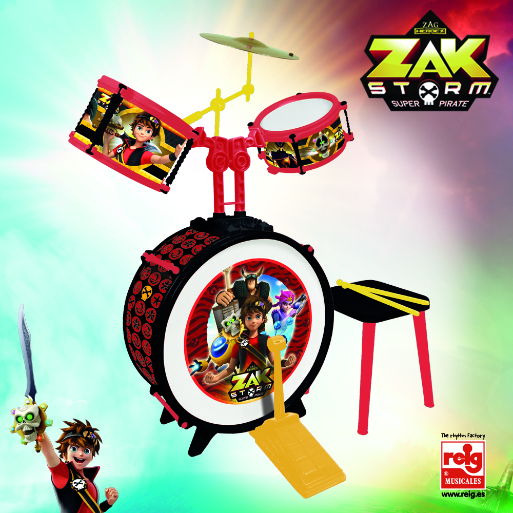2181  DRUM SET WITH STOOL