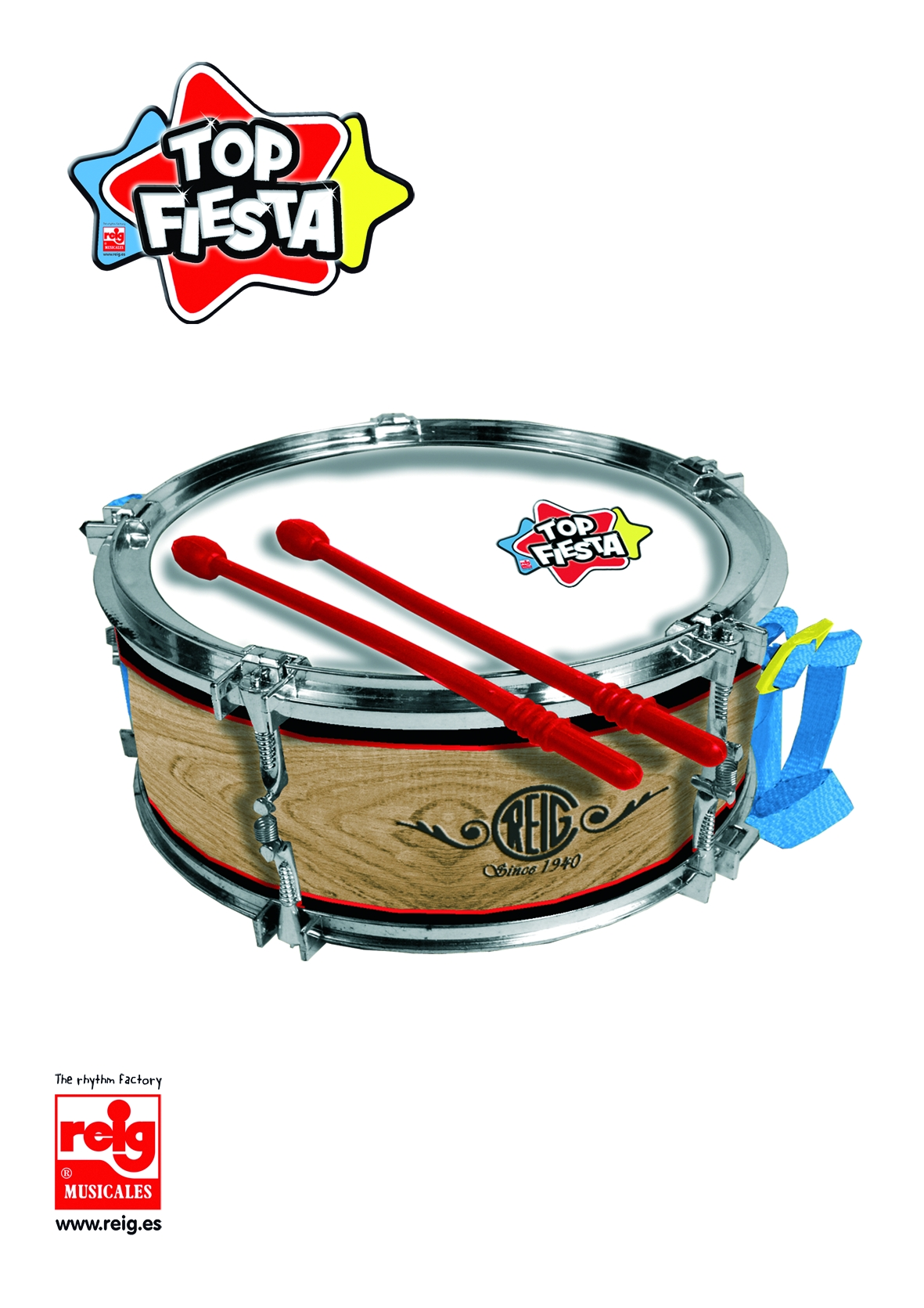 3107  23CM DRUM WITH PLASTIC BAG AND HOLDER
