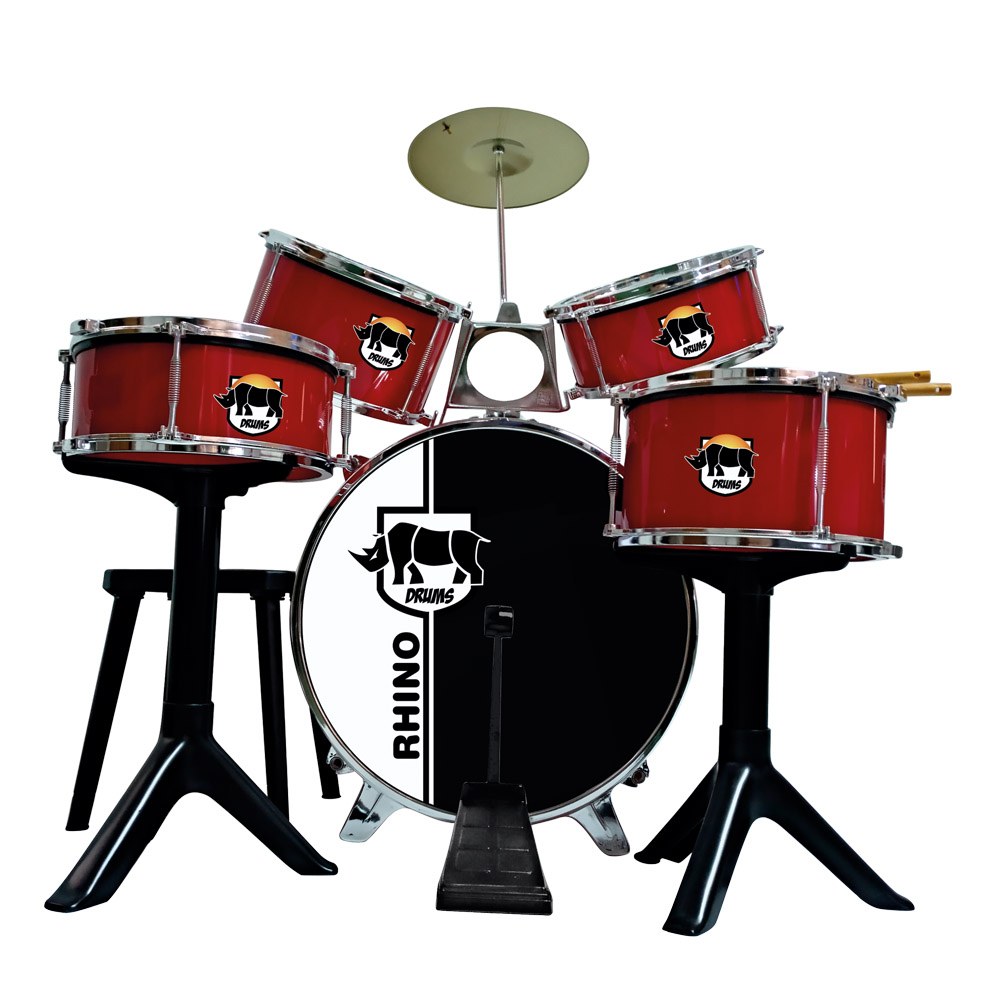 717  BATERIA GOLDEN RED DRUMS