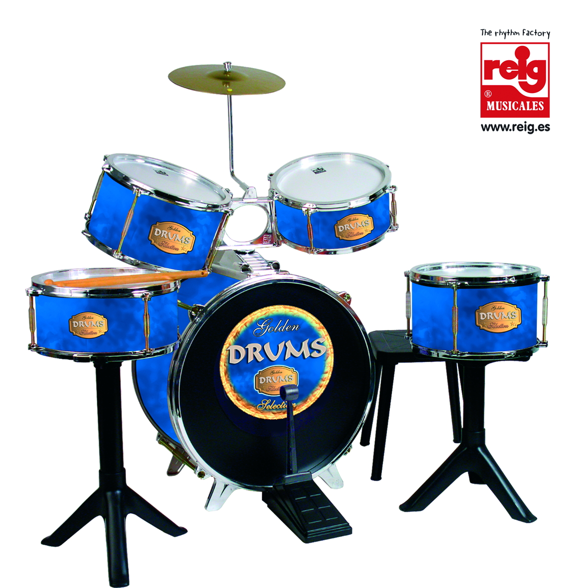 727  BATERIA GOLDEN DRUMS